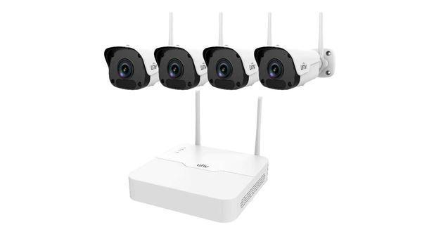 Imagen de UNV KIT CCTV WIFI NVR 4 CANALES 1 SATA + 4 BULLET 2MP L4MM
